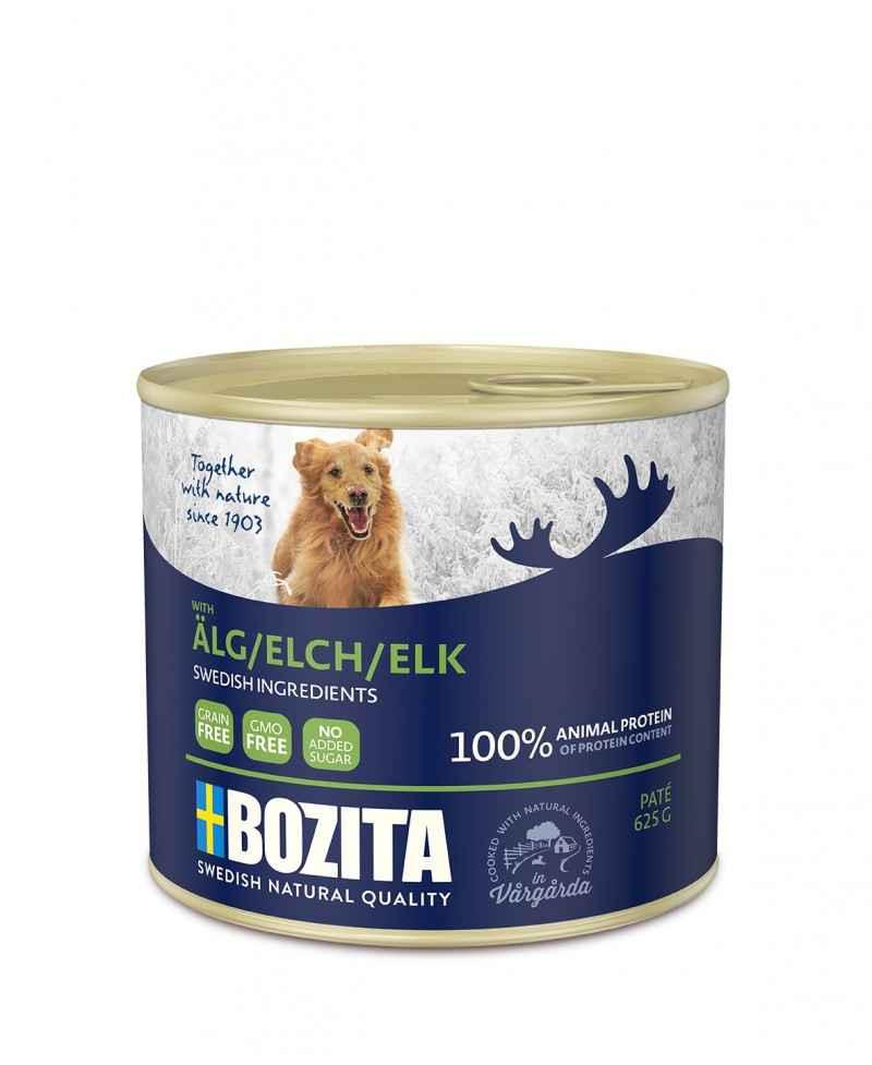 Elg - Bozita Pate - Hundemad - 625 gram  - 1