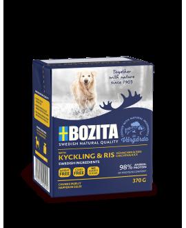 16 x KYLLING OG RIS - Bozita Bidder i Gele Kornfri vådfoder - 370 gram  - 1